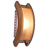 Home Essence Admiral 1 Light Wall Bracket - Bright Wood