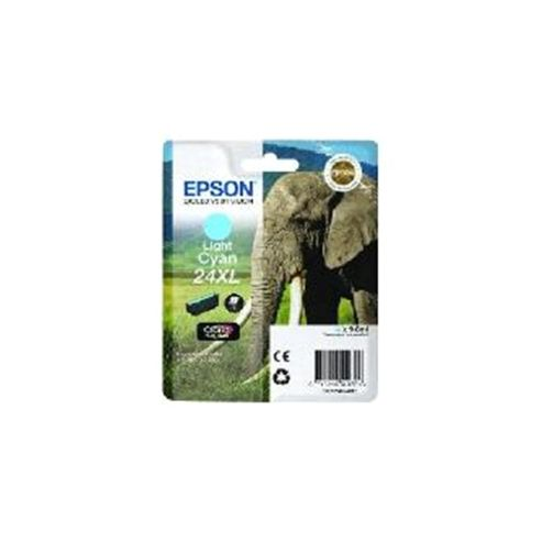 Epson Elephant 24XL (RF/AM) High Capacity (Yield 740 Pages) Ink Cartridge (Light Cyan) for Epson Expression Photo: XP-750 / XP-850