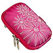 Rivacase Riva 7022 PU Digital Camera Case, Crimson Pink/Flowers
