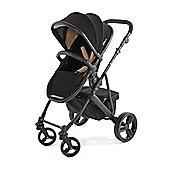 Tutti Bambini Riviera Plus 3 in 1 Black Pram & Pushchair - Black / Taupe