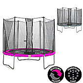 Twist 10ft Trampoline, Pink & Grey
