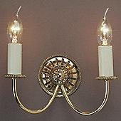 Impex Lighting Solar 1 Light Wall Bracket - Polished Brass