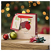 Tesco Robin Christmas Gift Bag, Small