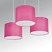 Torbery Set of Three Ceiling Pendant Light Shades in Pink