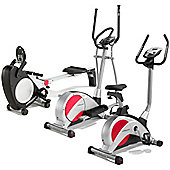 Pure Fitness & Sports Exercise Bike, Cross Trainer & Rower Package