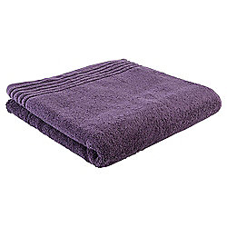 Tesco Egyptian Cotton Bath Towel, Aubergine