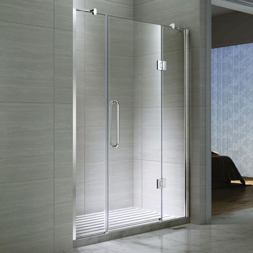 buy desire ten double inline hinged shower door 1200mm
