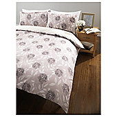 Tesco Floral Trail Double Duvet Set, Neutral