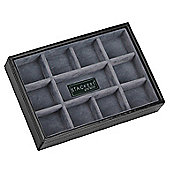 Black Open 11 Section Cufflink Stacker By Dulwich Designs