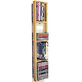 Wall Mounted Cd / Dvd / Blu Ray Storage Shelf - Natural