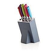 KitchenCraft Colourworks Five Pieces Knife Set and Graphite Block