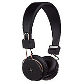 Kitsound Manhattan Wireless On-Ear Headphones, Black & Rose Gold