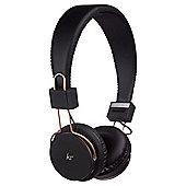 Kitsound Metallics Manhattan Bluetooth Black and Rose Gold Headphones