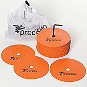 Precision Medium Round Rubber Marker Discs - Orange ( Set of 20 )