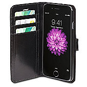 D. Bramante Copenhagen Leather Wallet Protective Cover for Apple iPhone 6 Plus (Black)
