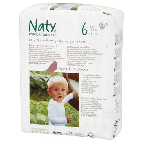 Naty By Nature Babycare Nappies - Extra Large - Size 6 - 18 Pack