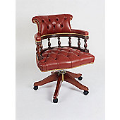 Curzon Gallery Collection Captains High-Back Chair in Red