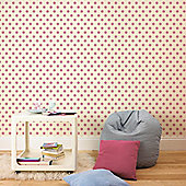 Graham & Brown Polka Dott Flock Wallpaper