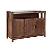 ValuFurniture Ashford 3 Door Sideboard - Walnut Veneer