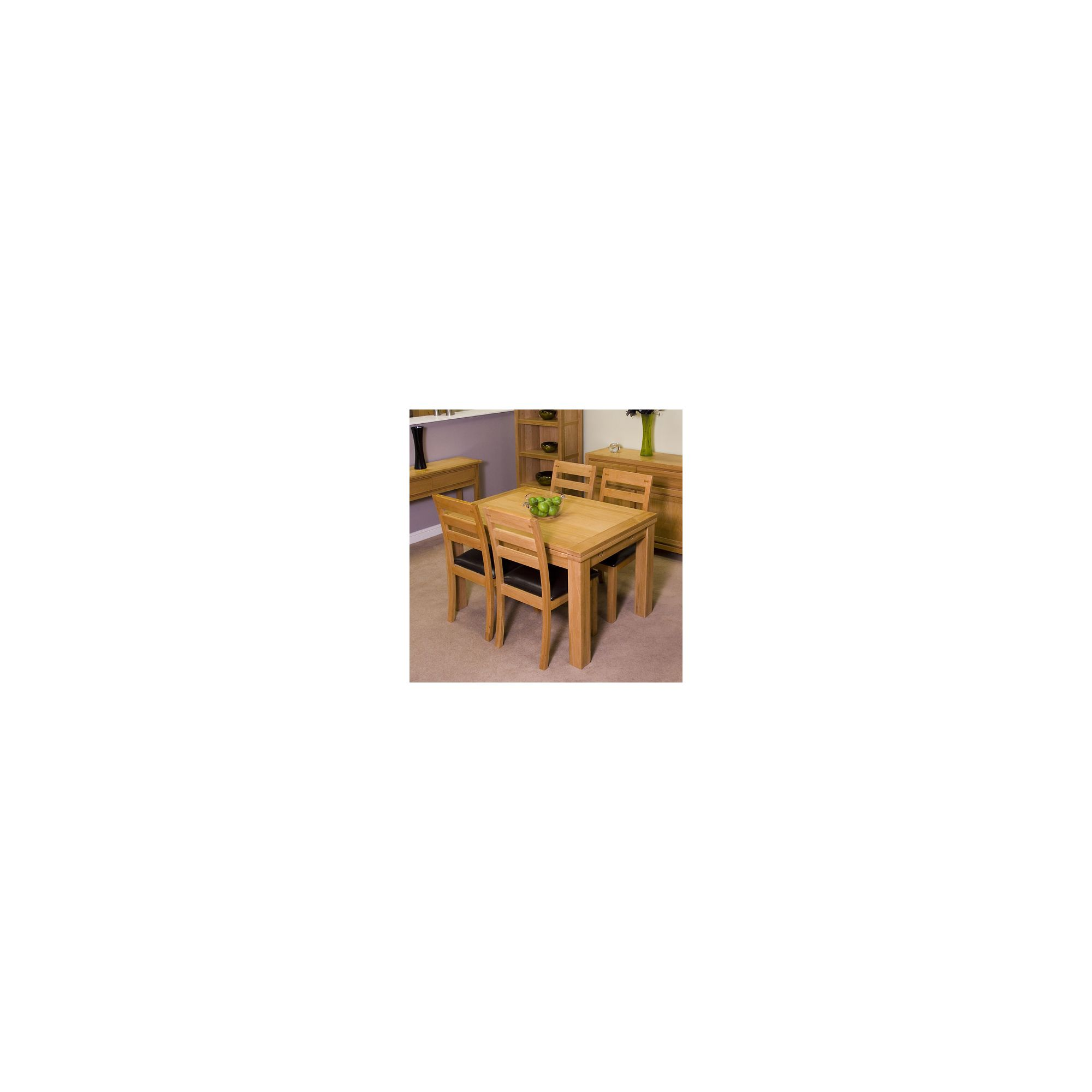 G&P Furniture Somerset Square Extending Draw-Leaf 5 Piece Dining Set at Tesco Direct