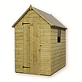 5ft x 4ft Pressure Treated T&G Apex Shed + 1 Window + Single Door