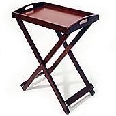 Tray - Folding Tray Top Tv / Craft / Laptop Table - Dark Mahogany
