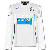 2013-14 Newcastle Puma Sweat Top (White) - White