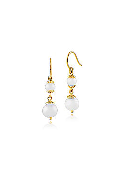 Gemondo 925 Gold Plated Sterling Silver 3.32ct Freshwater Pearl Drop Earrings