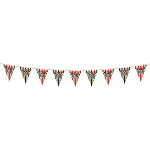 Party - Red Pirate Flag Banner - 6mtr- Amscan