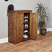 Baumhaus Heyford CRS20A Rough Sawn Oak Shoe Cupboard