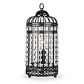 Birdcage Table Lamp in Black