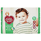 Tesco Loves Baby Ultra Dry Junior Plus Size 5+ - 36 Pack