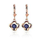 QP Jewellers 1.10ct Sapphire Corona Earrings in 14K Rose Gold