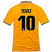 2013-14 Juventus Away Shirt (Tevez 10) - Yellow