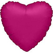 Fuchsia Pink Heart Balloon - 32' Metallic Foil (each)