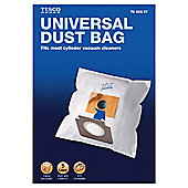 Tesco - Universal Dust Bag for Cylinder Vacuum Cleaners - Pack of 3 Universal Cylinder Bags