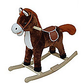 Traditional Rocking Horse Dark Brown
