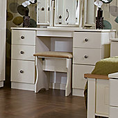 Welcome Furniture Kingston Kneehole Dressing Table - Cream