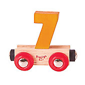 Bigjigs Rail Rail Name Number 7 (Orange)