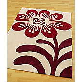 Origin Red Flowerbomb Plum Rug - 120cm x 60cm