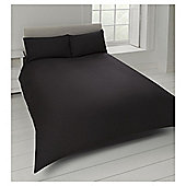 Tesco Cotton Rich Plain Dye Double Duvet Cover, - Black