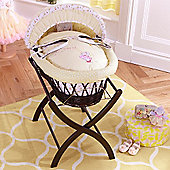 Izziwotnot Humphreys Lottie Fairy Dark Wicker Moses Basket (Princess Primrose)