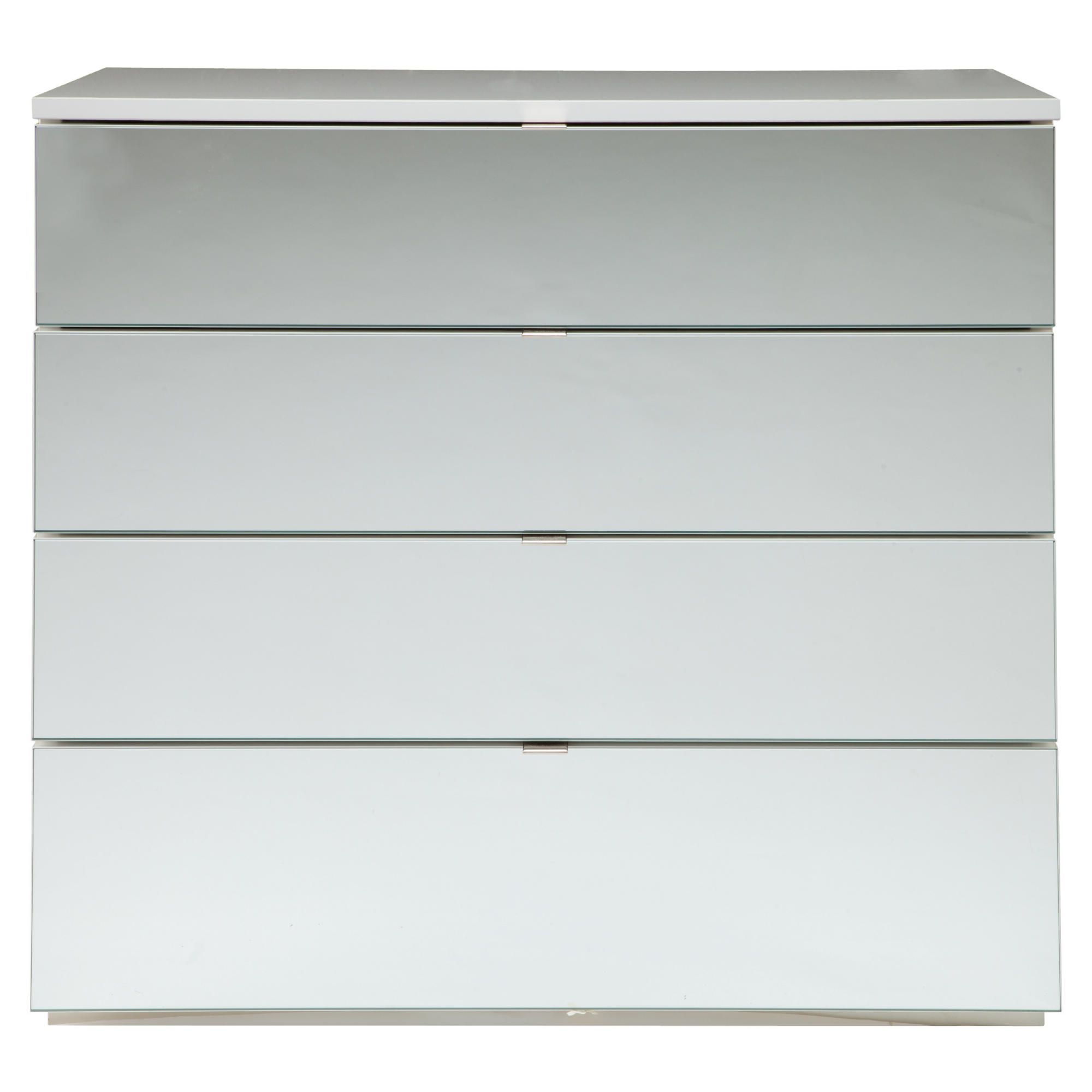 Palermo 4 Drawer Chest White Mirrored at Tesco Direct