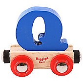 Bigjigs Rail Rail Name Letter Q (Dark Blue)