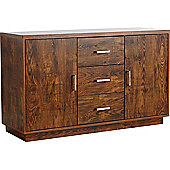 ValuFurniture Bali 2 Door 3 Drawer Sideboard - Mango Effect