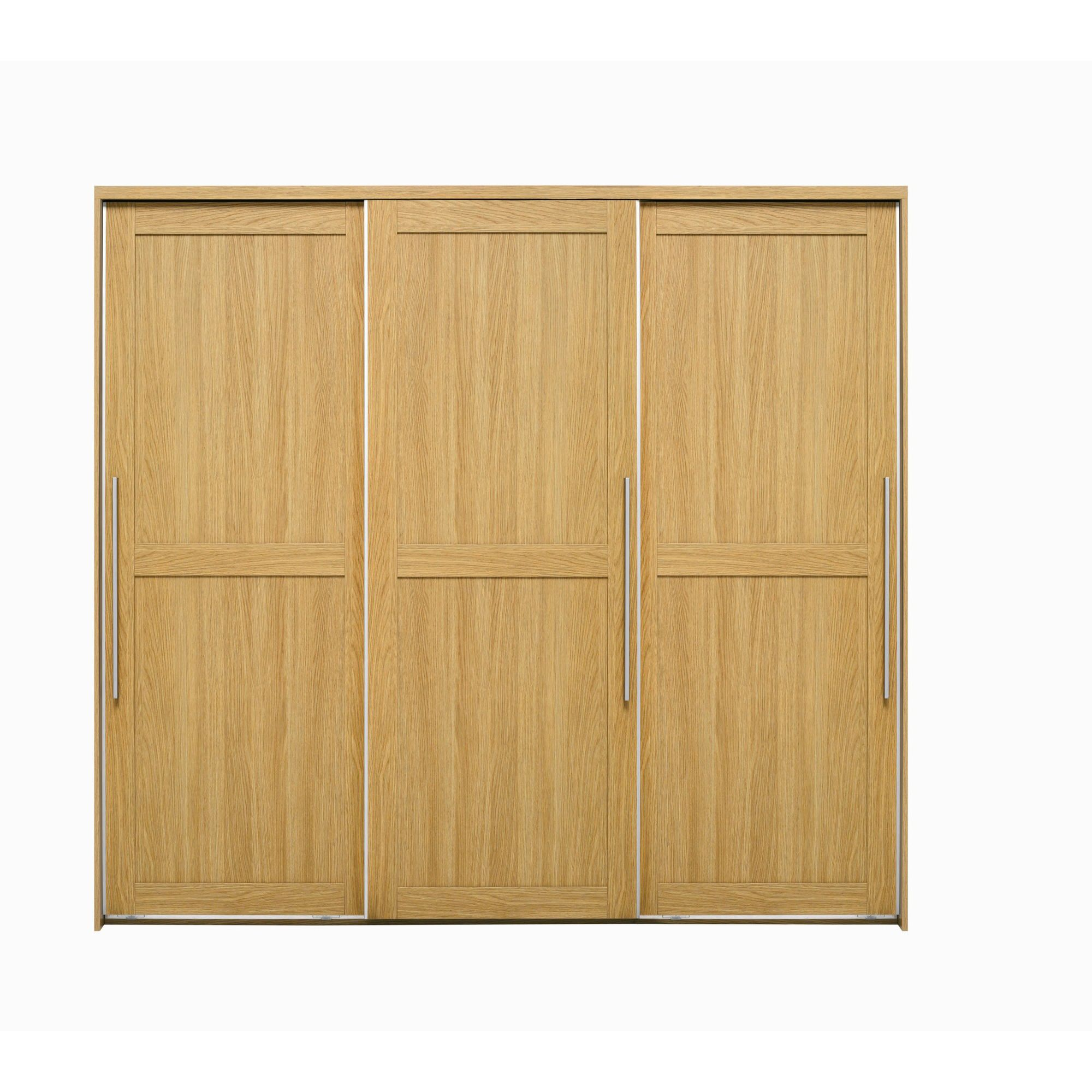 Caxton Melody 3 Door Sliding Wardrobe in Natural Oak at Tesco Direct