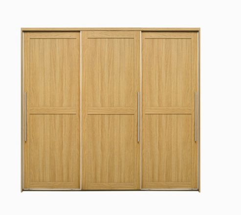 Caxton Melody 3 Door Sliding Wardrobe in Natural Oak