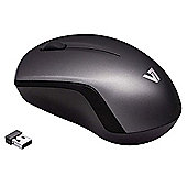 V7 MV3060 Wireless Mobile Blue Trace Optical USB Mouse (Black/Dark Grey)