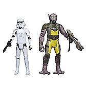 "Star Wars Mission Series - Garazeb ""Zeb"" Orrelios and Stormtrooper Figures"