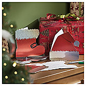 Hat And Boot Christmas Cards, 10 pack